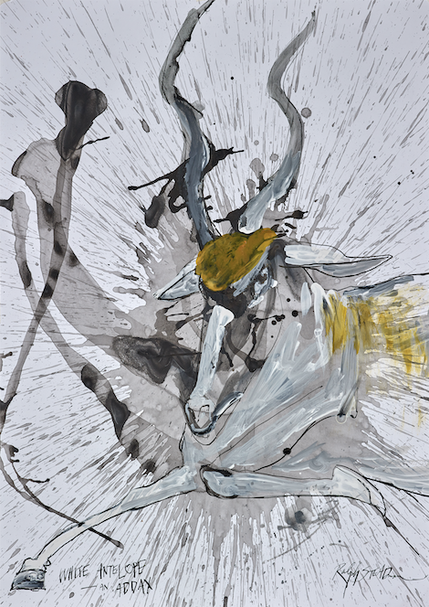White Antelope from Critical Critters by Ralph Steadman and Ceri Levy